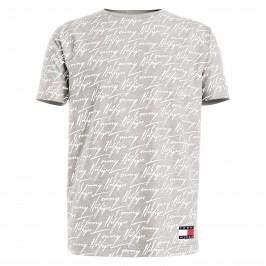 T-shirt Tommy logo signature - gris - TOMMY HILFIGER UM0UM02248-PJA