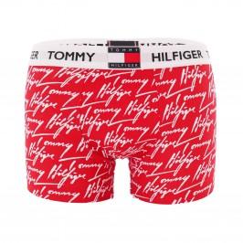 Boxer motif imprimé en coton - rouge - TOMMY HILFIGER UM0UM01832-0H6