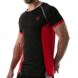 T-Shirt Total Protection Noir/Rouge - TOF PARIS TOF143NR