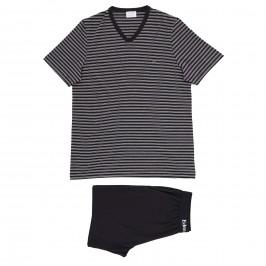 Pyjama Eden Park coton bio rayé - gris - EDEN PARK E537G67-039