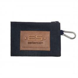 Porte monnaie / clefs Jean - bleu - ES COLLECTION AC143-C502