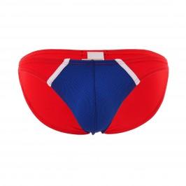 Mini slip The Popular - bleu/rouge - MODUS VIVENDI 09112-BLUE-RED