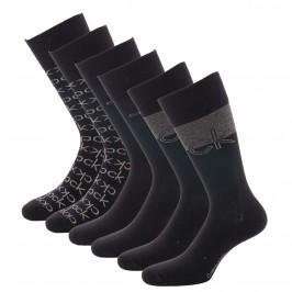 Lot de 3 paires de chaussettes avec logo - noir et gris - CALVIN KLEIN 100004543-001