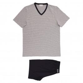 Pyjama Eden Park coton bio rayé - gris - EDEN PARK E537G60-073