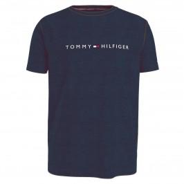 T-shirt à logo col ras-du-cou - bleu marine foncé - TOMMY HILFIGER UM0UM01434-DW5