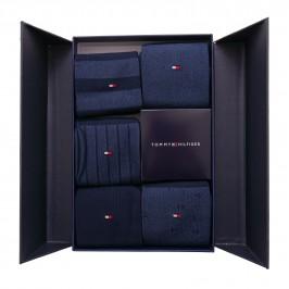 5-Pack Gift Box Bird's Eye Socks - navy - TOMMY HILFIGER 701210549-001