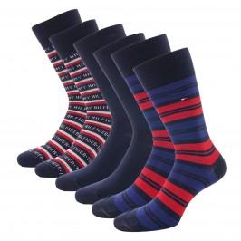 3-Pack Gift Box Stripe Socks - navy - TOMMY HILFIGER 701210901-001
