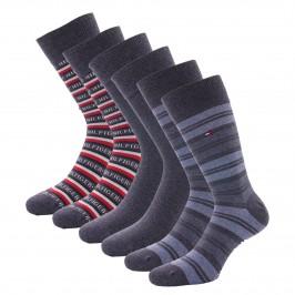 3-Pack Gift Box Stripe Socks - jeans - TOMMY HILFIGER 701210901-003
