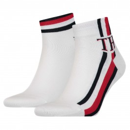Lot de 2 paires de socquettes - blanc - TOMMY HILFIGER 320203001-300