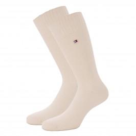 Cashmere Wool Blend Socks - white - TOMMY HILFIGER 701210546-001