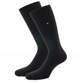 Cashmere Wool Blend Socks - black - TOMMY HILFIGER 701210546-003