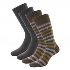 Lot de 2 paires de chaussettes - olive - TOMMY HILFIGER 472001001-041