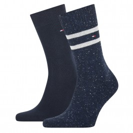 2-Pack Stripe Neppy Socks - navy - TOMMY HILFIGER 701210539-002