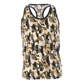 Glam Camouflage Tank Top -  2838-MULTI