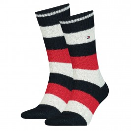 Set of 2 pairs of chaussttes - navy, red & grey - TOMMY HILFIGER 100001191-001
