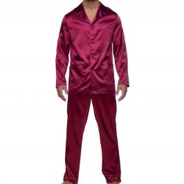 Pyjama Core Satin - pourpre - MODUS VIVENDI 21652-WINE-RED