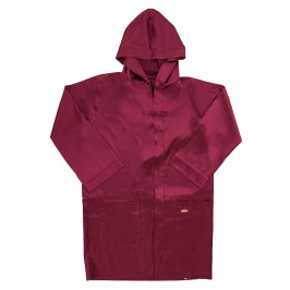 Peignoir Core Satin - rouge - MODUS VIVENDI 21652-WINE-RED