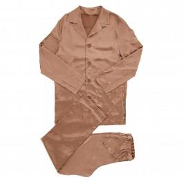 Pyjama Core Satin - marron - MODUS VIVENDI 21652-BROWN