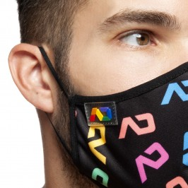 Masque à rayures - marin - ADDICTED AC117-C10